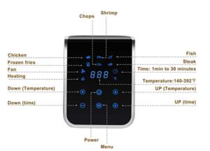 Air Fryer, Touch Screen