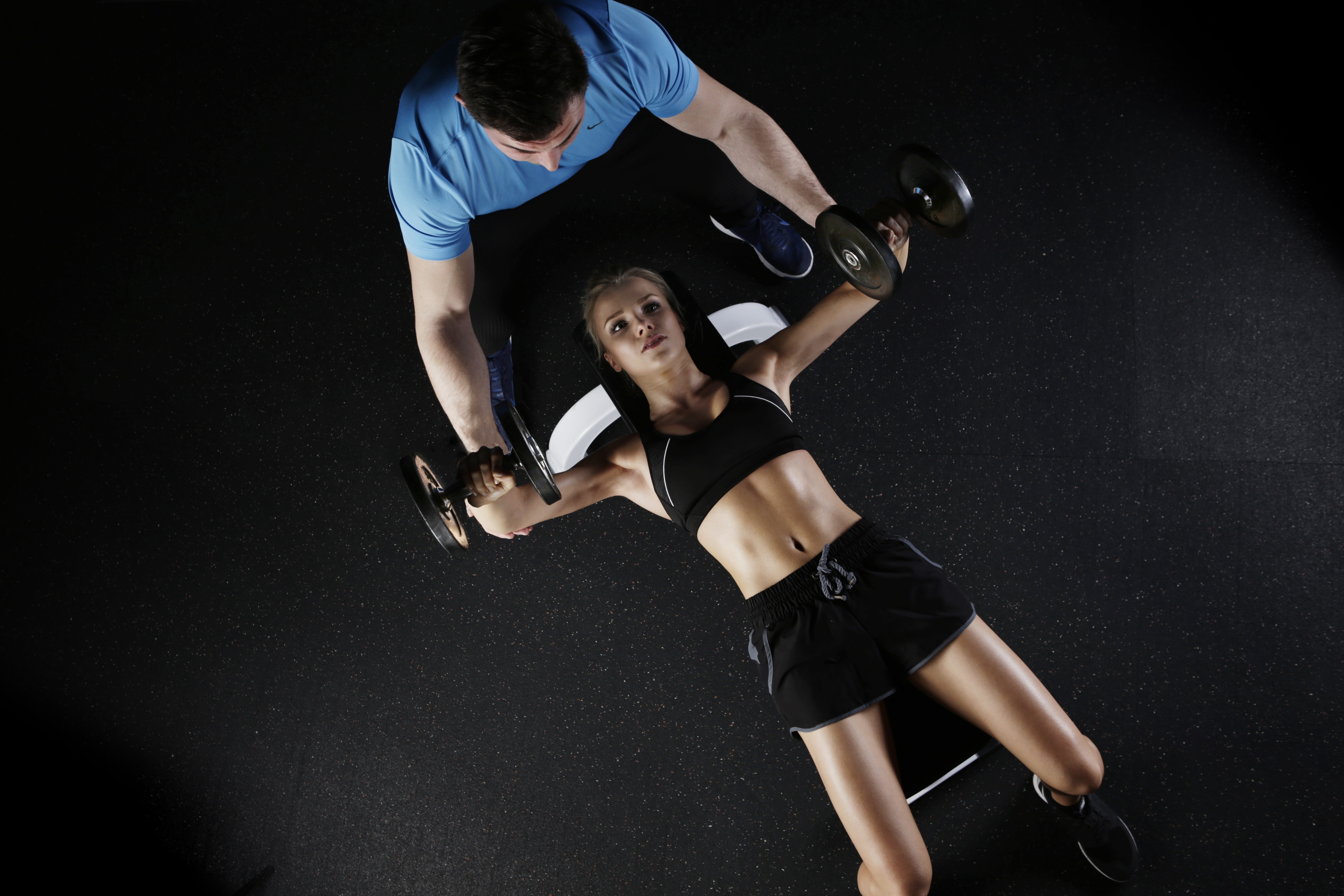 Working out with a trainer